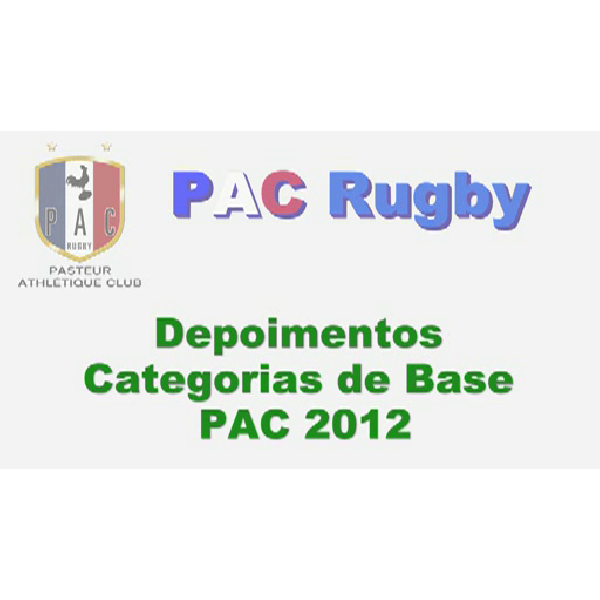 Depoimentos PAC 2012 - Categorias de Base